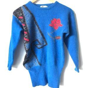 Sweaters - Vintage Wool Sweater Blue